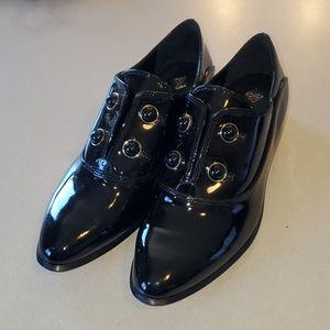 Antonio Melani Black Loafers Size 7M Slip on